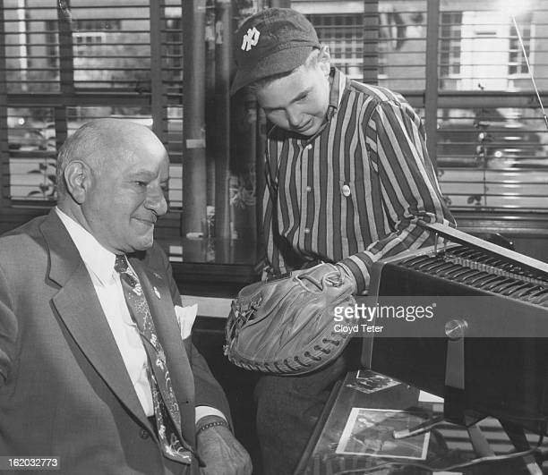 SEP 29 1956 1011956 A B Hirschfeld president of Denver's Hirschfeld Press and his grandson Barry Saturday were keenly following the baseball games in...