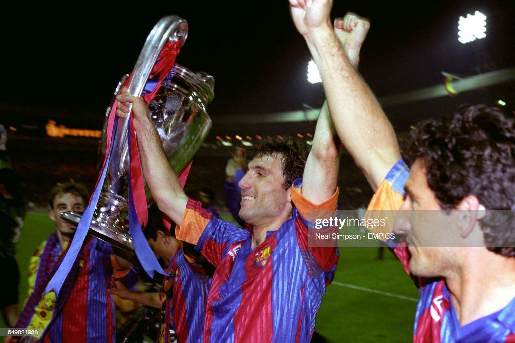 Soccer - European Cup Final - Barcelona v Sampdoria - Wembley Stadium, London : News Photo