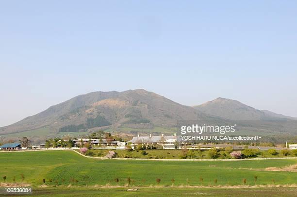 hiruzen highlands, okayama prefecture, honshu, japan - präfektur okayama stock-fotos und bilder