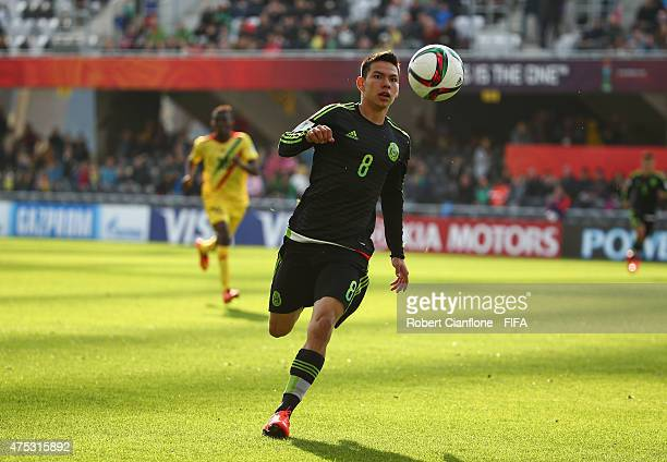 Hirving Lozano of Mexico chases the ball during the FIFA U20 World Cup New Zealand 2015 Group D match between Mexico and Mali at Otago Stadium on May...