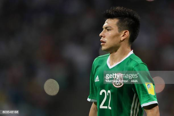 Hirving Lozano of Mexico looks on during the FIFA Confederations Cup Russia 2017 SemiFinal match between Germany and Mexico at Fisht Olympic Stadium...