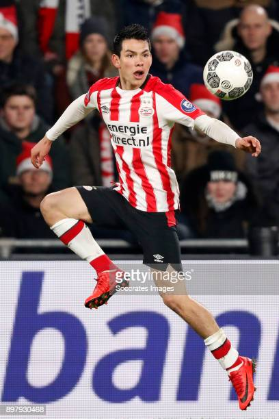 Hirving Lozano of PSV during the Dutch Eredivisie match between PSV v Vitesse at the Philips Stadium on December 23 2017 in Eindhoven Netherlands