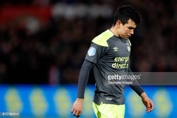 Hirving Lozano of PSV during the Dutch KNVB Beker match between Feyenoord v PSV at the Stadium Feijenoord on January 31 2018 in Rotterdam Netherlands