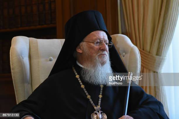 His All Holiness Bartholomew I Archbishop of Constantinople New Rome and Ecumenical Patriarch in Athens in Maximos Mansion