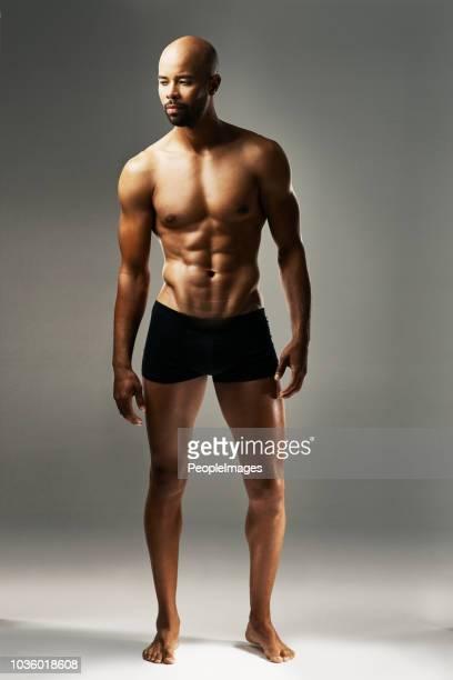 his body is perfectly chiselled - homem de cueca imagens e fotografias de stock