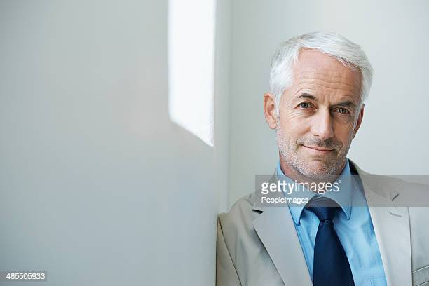 his confidence got him to the top - handsome 50 year old men stock photos and pictures