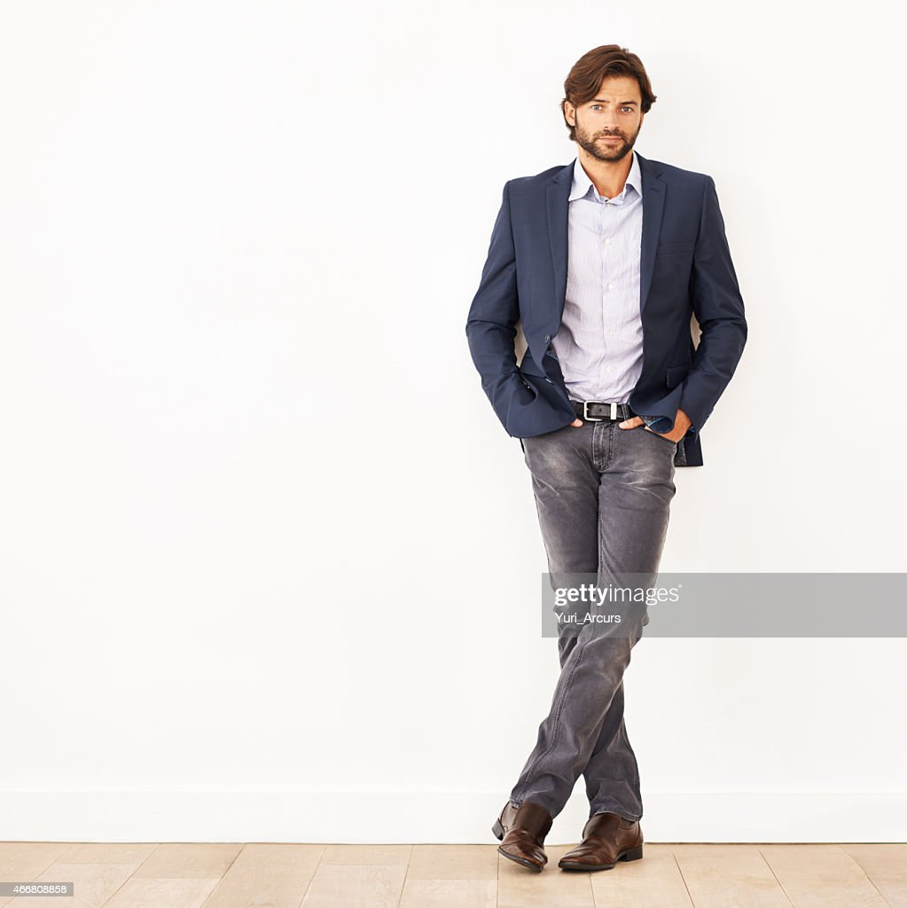 His confidence knows no bounds : Stock Photo