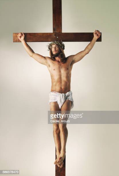 his death, for humanity's debt - jesus imagens e fotografias de stock