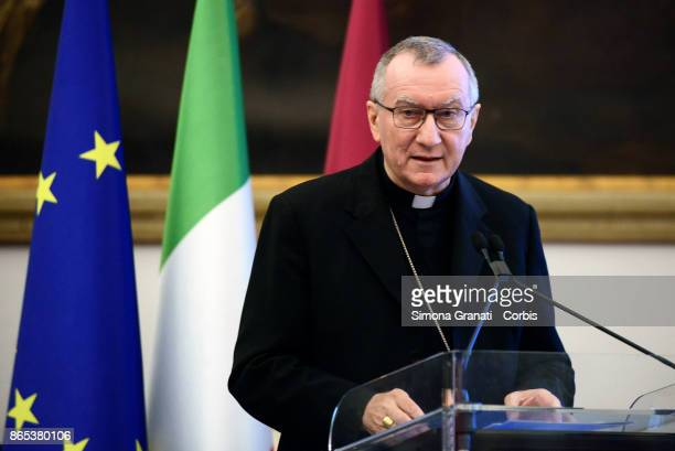 His Eminence Cardinal Pietro Parolin Secretary of State of His Holiness participates in the International Summit on Water and Climate at the Sala...