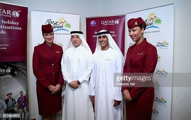 His Excellency Akbar Al Baker Qatar Airways chief executive and His Excellency Engineer Sheikh Salem Bin Sultan Al Qasimi Chairman Ras Al Khaimah...