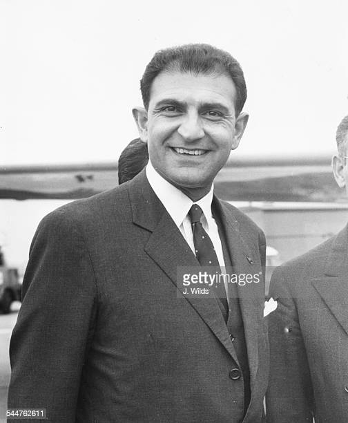 His Excellency Ardeshir Zahedi new Persian Ambassador arriving at London Airport September 3rd 1962