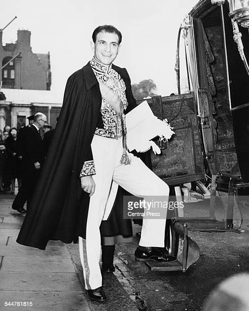 His Excellency Ardeshir Zahedi new Persian Ambassador next to his coach outside the embassy in Princes Gate London October 25th 1962