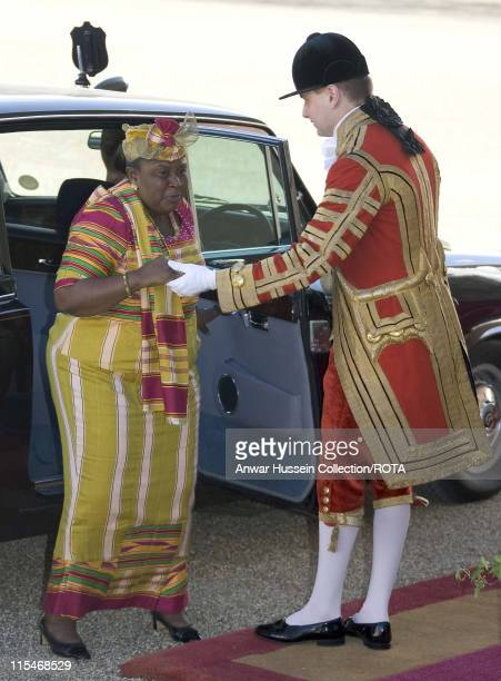 His Excellency Mr John Agyekum Kufuor the President of the Republic of Ghana meets Queen Elizabeth ll Prince Philip Duke of Edinburgh and Prince...
