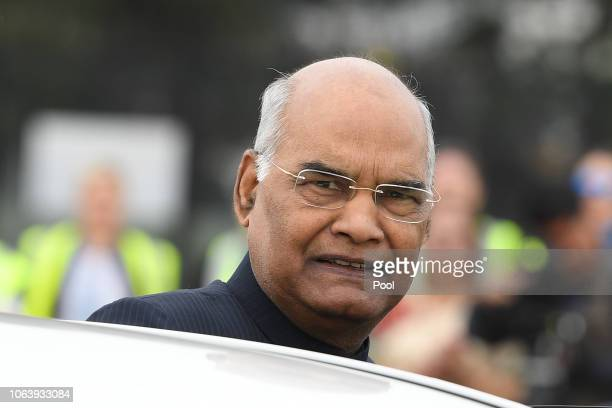His Excellency Mr Ram Nath Kovind, President Of The Republic Of India, arrives in Australia at Sydney's International Airport, Sydney, Wednesday,...