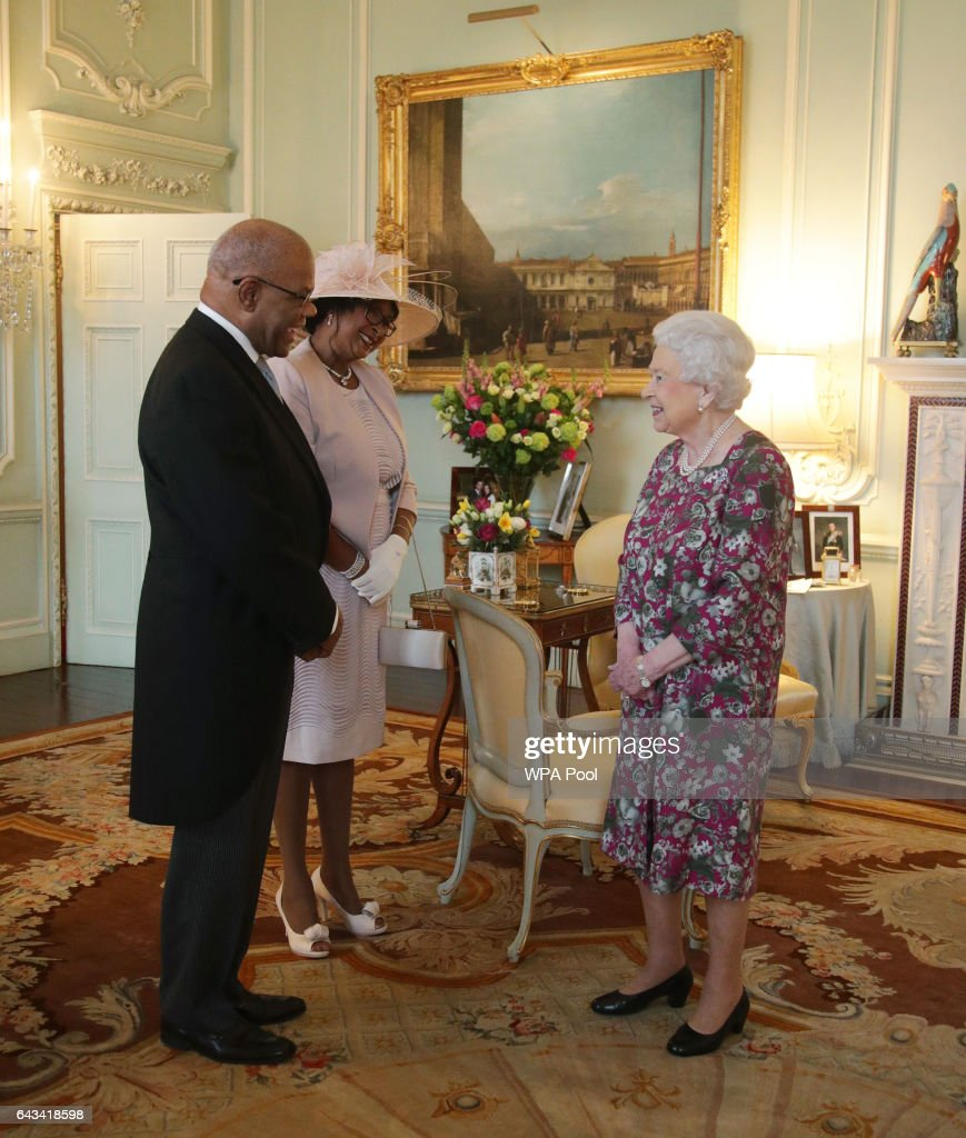 Audience with Queen Elizabeth II at Buckingham Palace : News Photo
