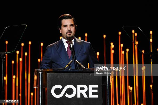 His Excellency Sheikh Meshal Bin Hamad Al-Thani, Ambassador of the State of Qatar to the United States of America, speaks onstage during CORE Gala: A...