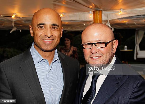 His Excellency Yousef Al Otaiba the Ambassador of the United Arab Emirates to the United States of America and Cafe Milano owner and event host...