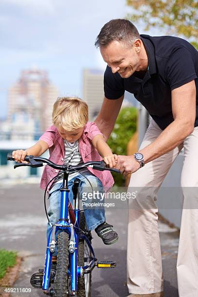 His first bike ride