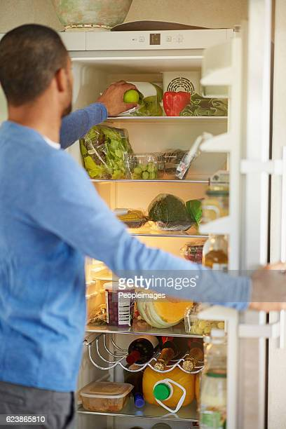 His fridge encourages healthy eating