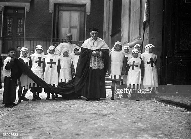 His Grace Suhard for the feast of Sainte Genevieve Nanterre january 1941