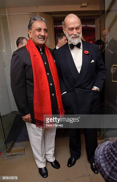His Highness Maharaja Gaj Singh II of MarwarJodhpur and Prince Michael of Kent attend the Royal Rajasthan charity Gala on November 9 2009 in London...