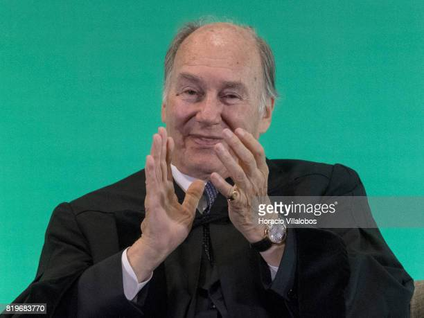 His Highness Shah Karim alHussaini Prince Aga Khan applauds the choir performance during the ceremony in which he was awarded with the Honoris Causa...
