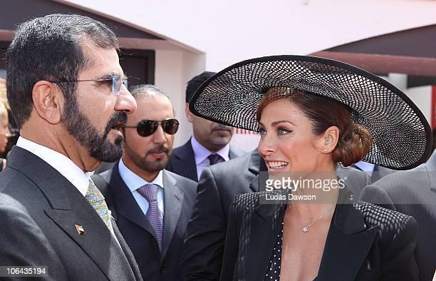 His Highness Sheikh Mohammed Bin Rashid Al Maktoum UAE Vice President and Prime Minister and Ruler of Dubai the Emirates and Natalie Imbruglia pose...