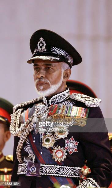 His Highness Sultan Qaboos Bin Said Attends A Military Tattoo Ceremony At The Al Fateh Stadium, For The Celebration Of The 35Th National Day...