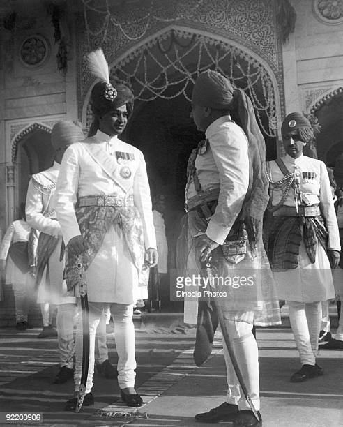 His Highness the Maharaja of Jaipur Rajasthan India circa 1945