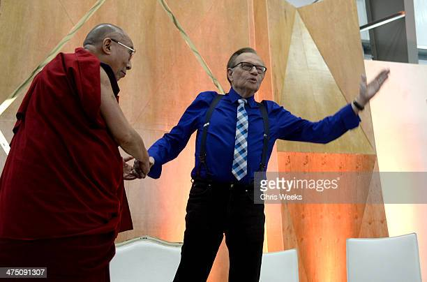 His Holiness the 14th Dalai Lama and Larry King attend The Lourdes Foundation Leadership in the 21st Century Event with His Holiness the 14th Dalai...