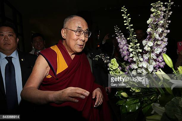 His Holiness the 14th Dalai Lama arrives at the St Julien Hotel Spa on June 23 2016 in Boulder Colorado