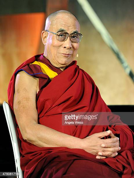His Holiness the 14th Dalai Lama attends The Lourdes Foundation Leadership in the 21st Century Event with His Holiness the 14th Dalai Lama at the...