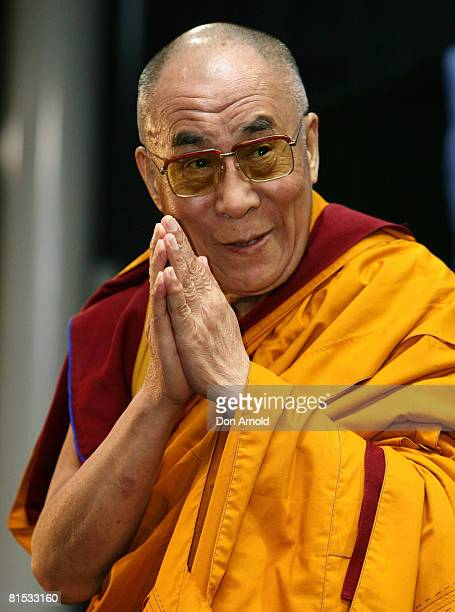"""His Holiness the 14th Dalai Lama presents """"Teachings On Stages Of Meditation"""" at the Soothe Complex on June 12, 2008 in Sydney, Australia. The exiled..."""