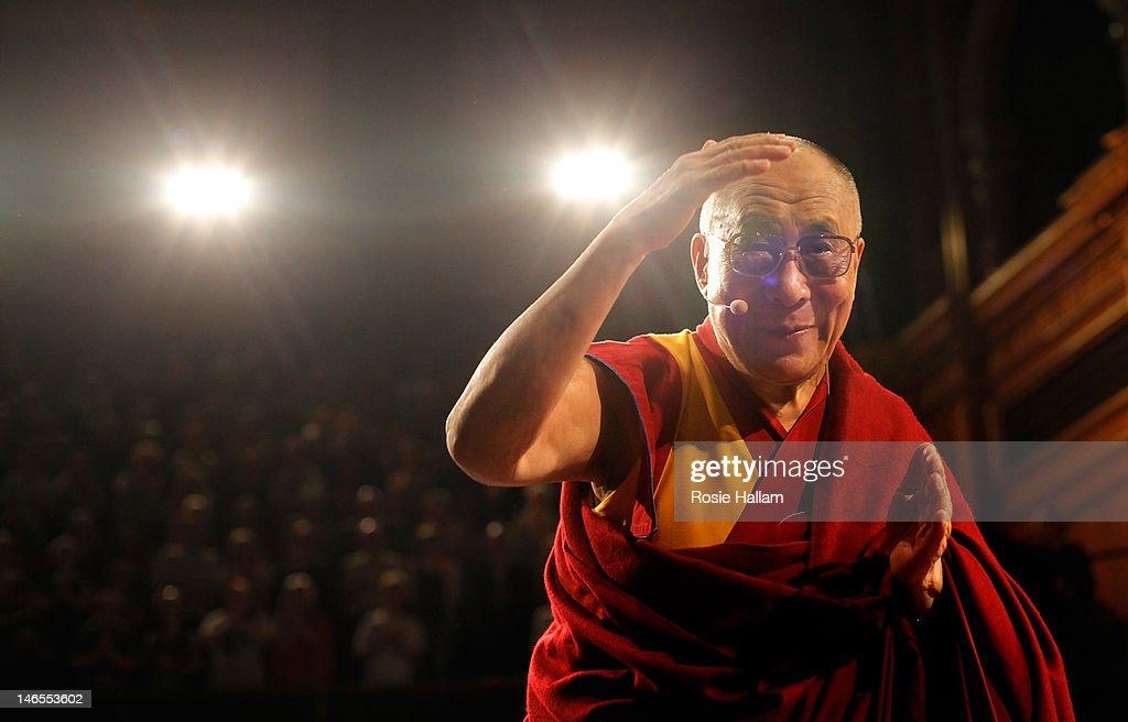 Dalai Lama Speaks At The Royal Albert Hall : News Photo