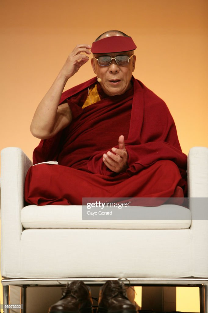 His Holiness the Dalai Lama onstage during a 'The Mind & Its Potential' conference at the Sydney Convention & Exhibition Centre on December 3, 2009 in Sydney, Australia. His Holiness, the 14th Dalai Lama will present the Science of Mind forum with 40 of the world's leading scientists.