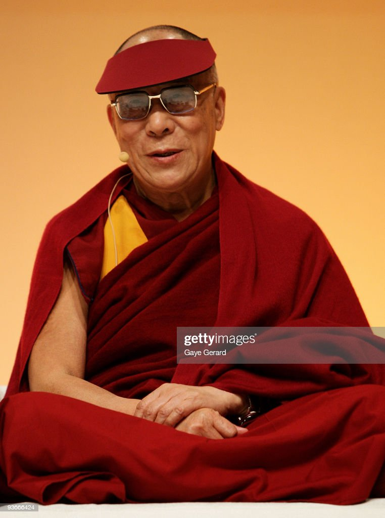 His Holiness the Dalai Lama onstage during the 'The Mind & Its Potential' conference at the Sydney Convention & Exhibition Centre on December 3, 2009 in Sydney, Australia. His Holiness, the 14th Dalai Lama will present the Science of Mind forum with 40 of the world's leading scientists.