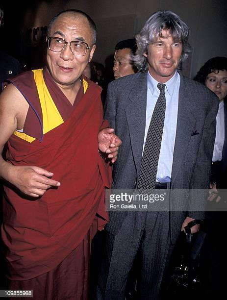 His Holiness the XIV Dalai Lama and actor Richard Gere attend the New York Lawyers Alliance for World Security Annual Peace Award Salute to His...