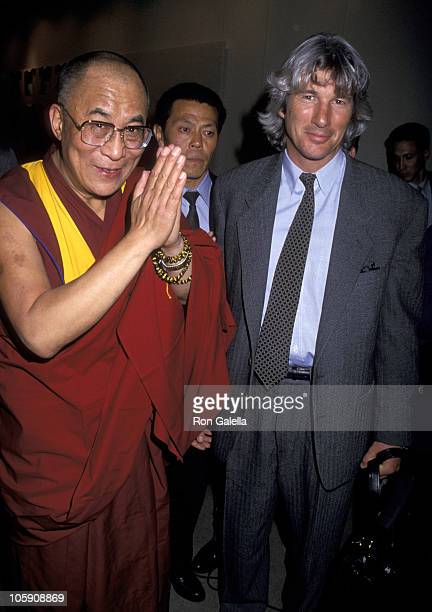 His Holiness The XIV Dalai Lama and Richard Gere during New York Lawyers Alliance for World Security Annual Peace Award in New York City NY United...