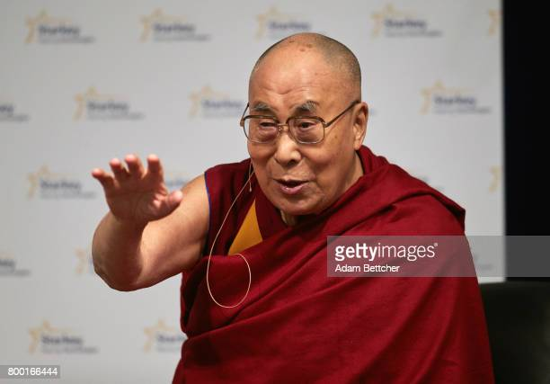 His Holiness the XIVth Dalai Lama speaks at the Starkey Hearing Foundation Center For Excellence on June 23, 2017 in Eden Prairie, Minnesota.