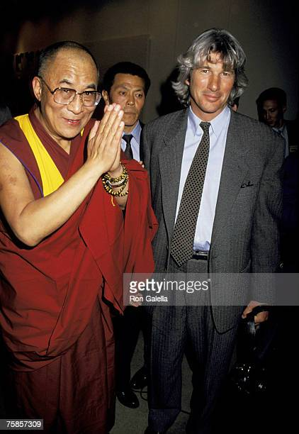 His Holiness XIV Dalai Lama and Richard Gere