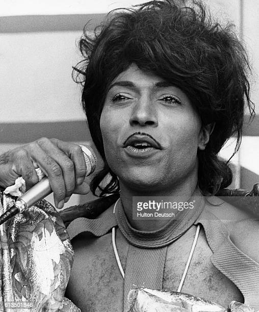 His is a job of love Little Richard on stage Little Richard the American rock and roll singer on stage at Wembley stadium in London Really he made a...