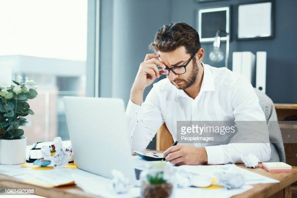 his job is seriously starting to stress him out - burnout stock photos and pictures