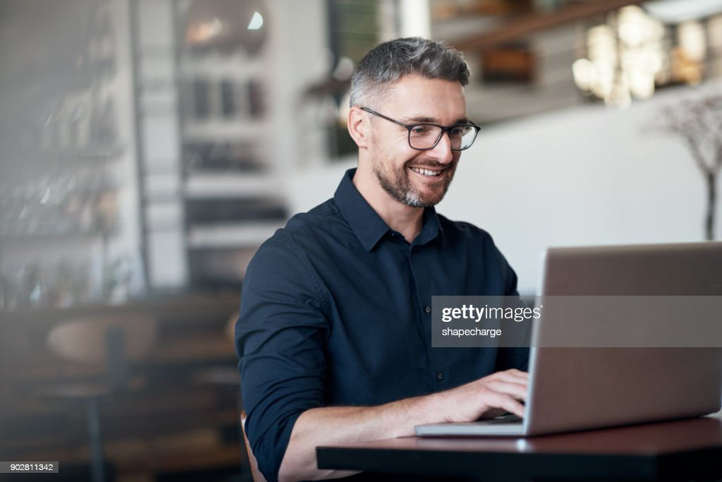 His little business is coming along nicely : Stock Photo