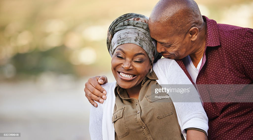 His love is all in the kiss : Stock Photo