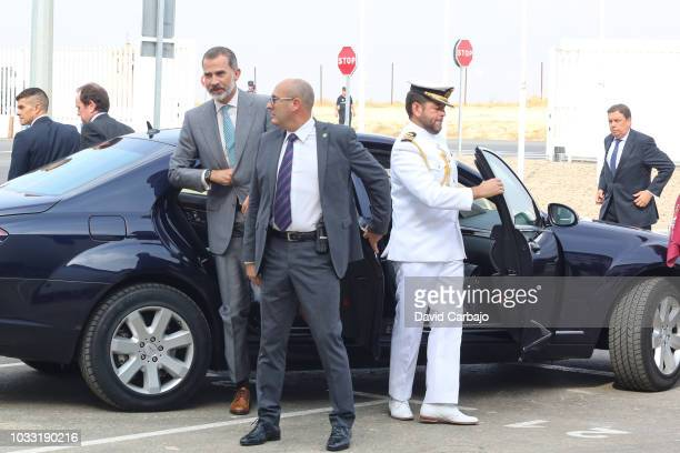 His Majesty King Felipe VI inaugurates with Susana Diaz President of the Junta de Andalucian the new factory of Ybarra on September 14 2018 in...