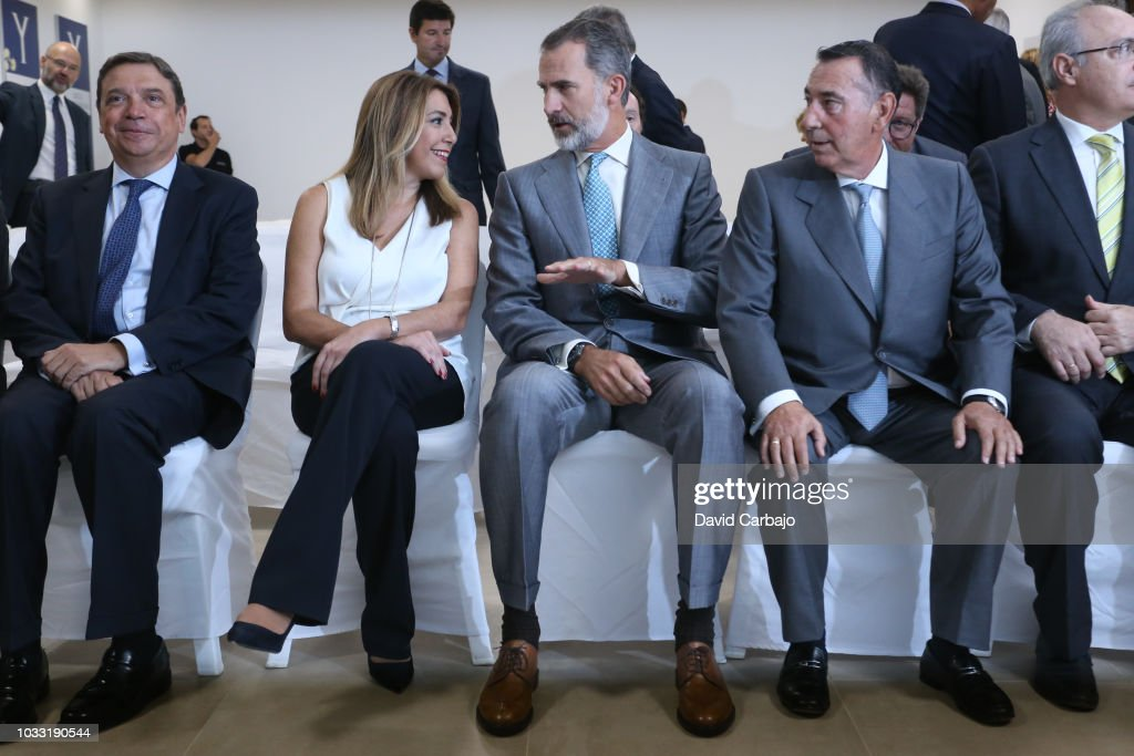 His Majesty King Felipe VI inaugurates with Susana Diaz President of the Junta de Andalucian the new factory of Ybarra on September 14, 2018 in Seville, Spain.