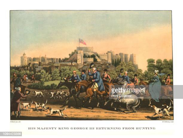 His Majesty King George III Returning from Hunting' earlymid 19th century George III out fox hunting with Windsor Castle in the distance After James...