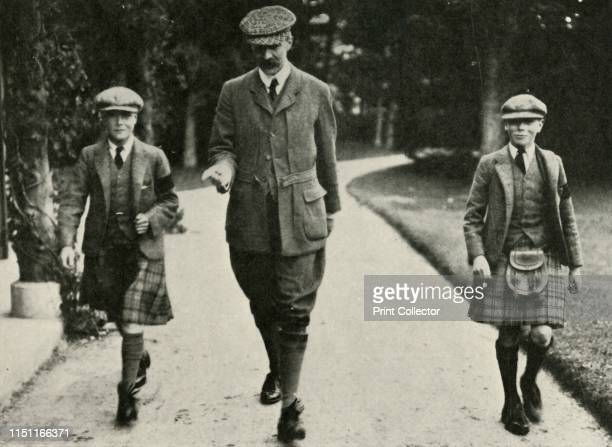 His Majesty King George VI and the Ex-King Edward VIII with Mr. Hansel Their Tutor, at Balmoral, 1911', 1937. His Royal Highness Prince Albert...