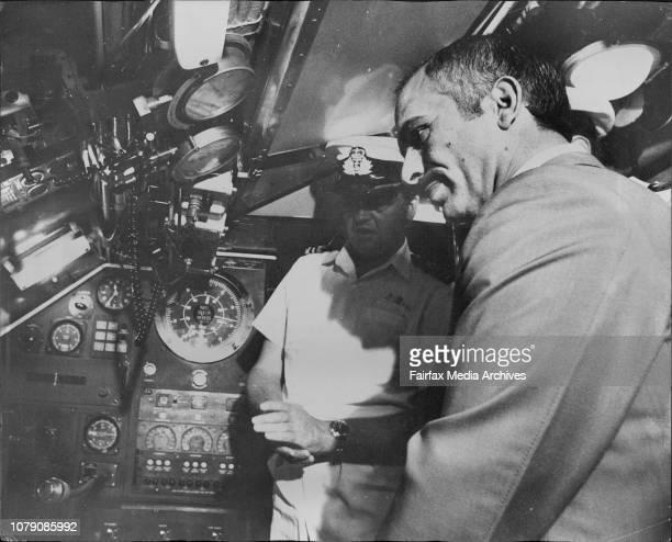 His Majesty King Hussein of Jordania visited Sydney submarine base HMAS platypus at Neutral BaytodayKing Hussein inside submarine HMAS Oberon...