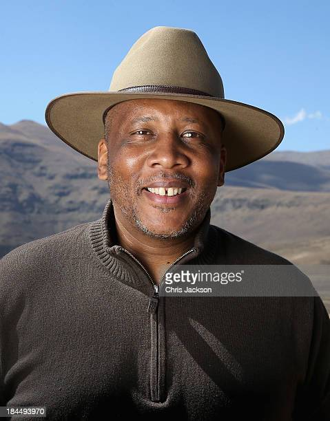 His Majesty King Letsie III of Lesotho poses for a portrait at the opening ceremony of the new Sentebale Mateanong Herd Boy School during a visit to...